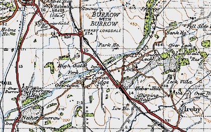 Old map of Cowan Bridge in 1947