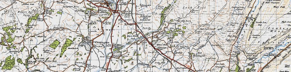Old map of Cowan Bridge in 1947