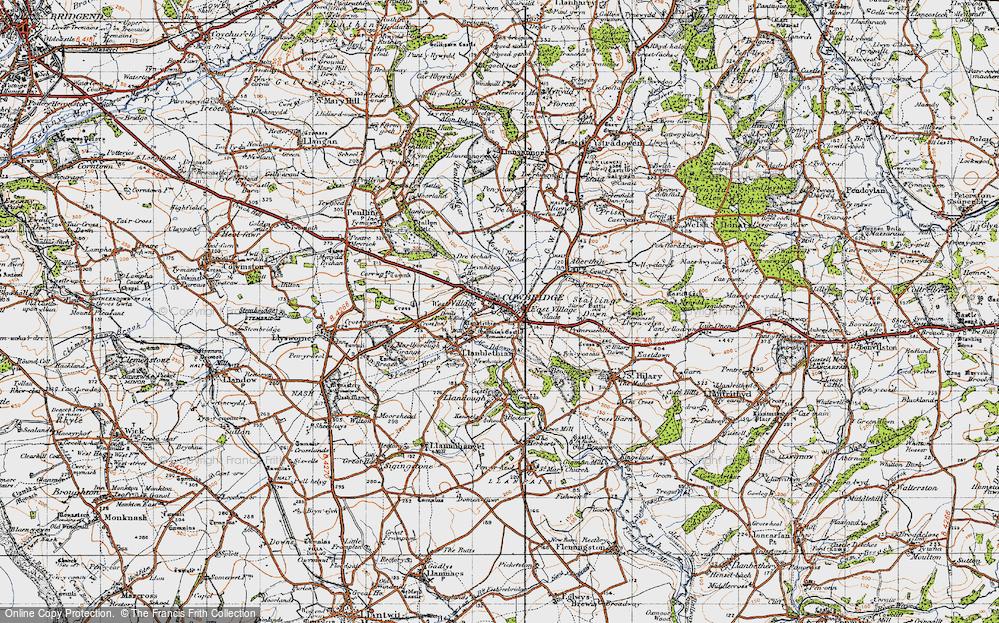 Old Map of Cowbridge, 1947 in 1947
