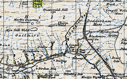 Old map of Wry Gill in 1947