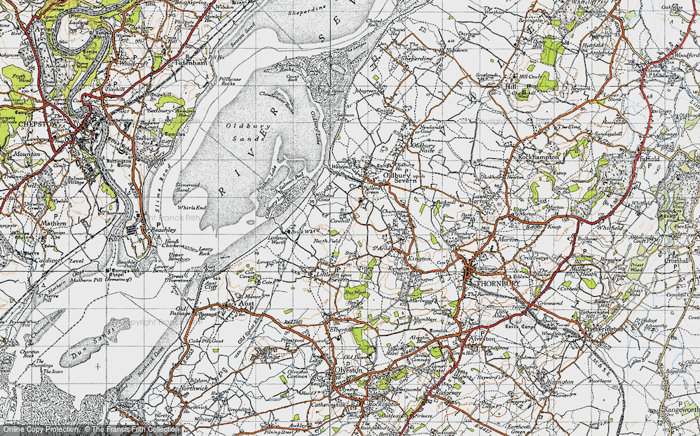 Old Map of Historic Map covering Titters Hill in 1946