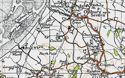 Old map of Titters Hill in 1946