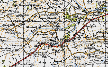 Old map of Westfield in 1947
