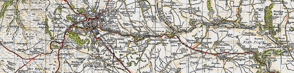 Old map of Woolow in 1947