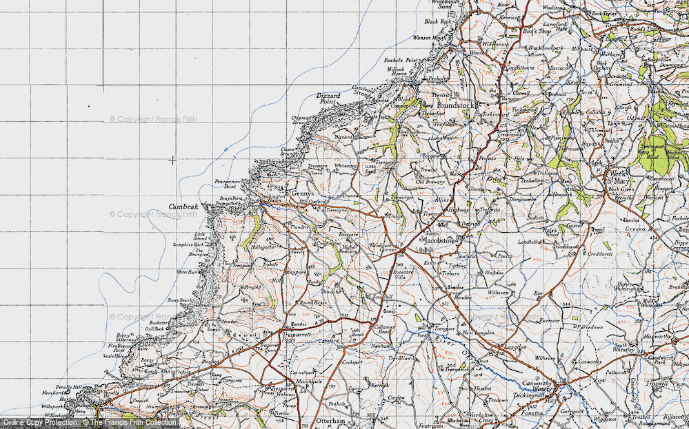 Old Map of Historic Map covering Whitemoor in 1946