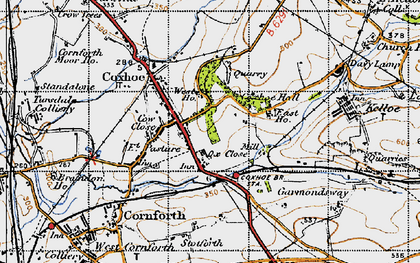 Old map of Coxhoe in 1947