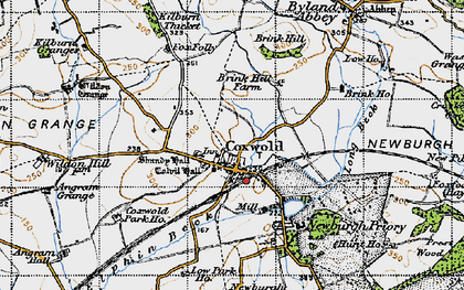 Old map of Coxwold in 1947