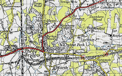 Old map of Ley House in 1940