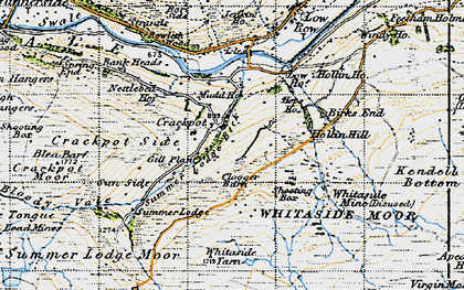Old map of Aberdene Tarn in 1947