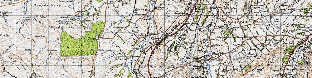 Old map of Fforest Fach in 1947