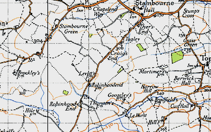 Old map of Le Hurst in 1946