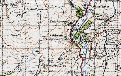 Old map of Craig-y-nos in 1947