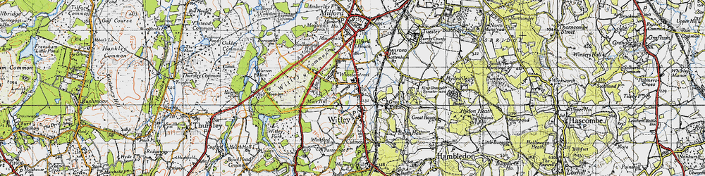 Old map of Witley Common in 1940