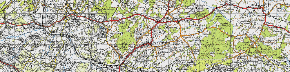 Old map of Angley Ho in 1940