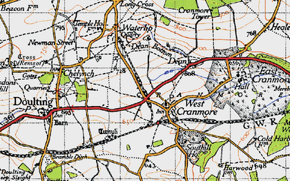 Old map of Cranmore in 1946