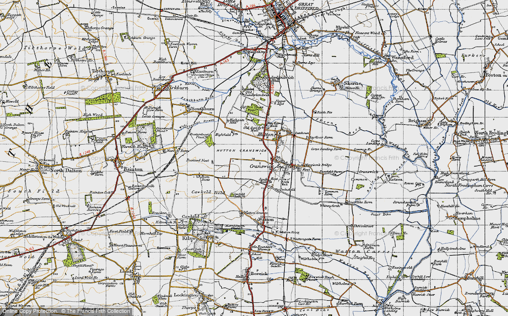 Old Map of Cranswick, 1947 in 1947