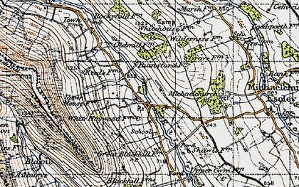 Old map of Auburys in 1947