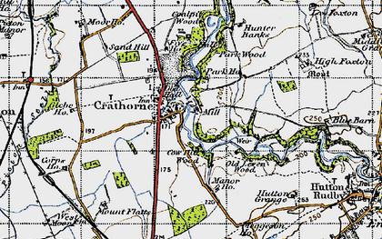 Old map of Crathorne in 1947