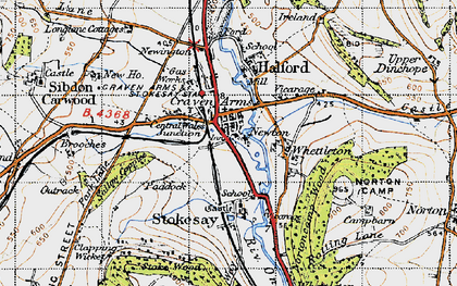 Old map of Craven Arms in 1947