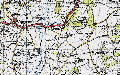 Old map of Wildway Ho in 1946