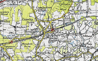 Old map of Crawley Down in 1946