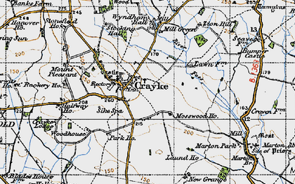 Old map of Crayke in 1947