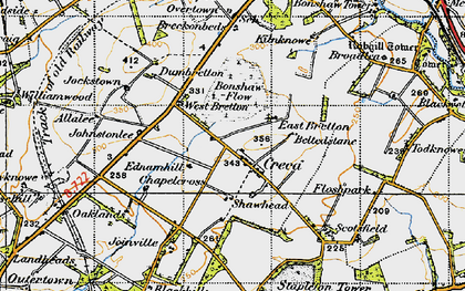 Old map of Allalea in 1947