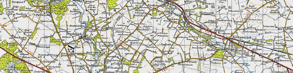 Old map of Windyknowe in 1947