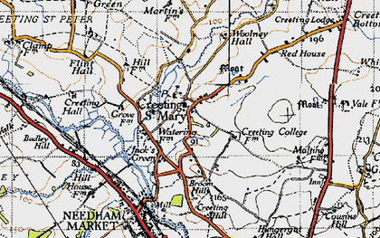 Old map of Woolney Hall in 1946