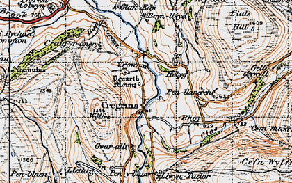 Old map of Wylfre in 1947