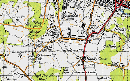 Old map of Cressex in 1947