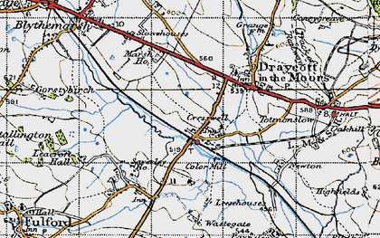 Old map of Leacroft Hall in 1946