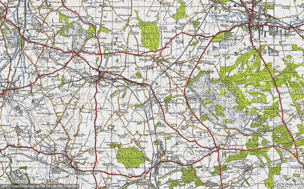 Old Map of Creswell, 1947 in 1947