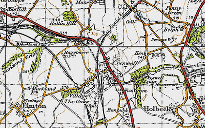 Old map of Creswell in 1947