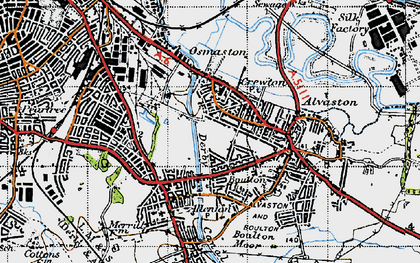Old map of Crewton in 1946