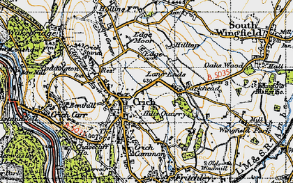 Old map of Crich in 1947
