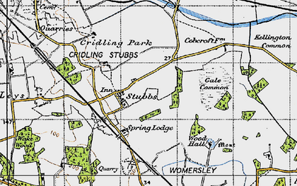 Old map of Aire and Calder Navigation (Knottingley and Goole Canal) in 1947