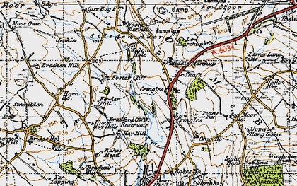 Old map of Addlingham Low Moor in 1947