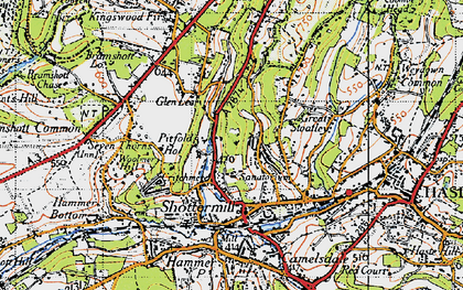 Old map of Critchmere in 1940