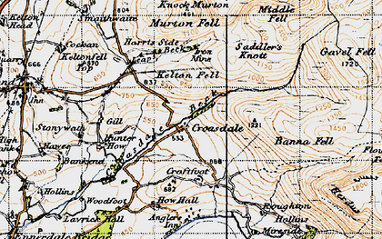 Old map of Harris Side in 1947