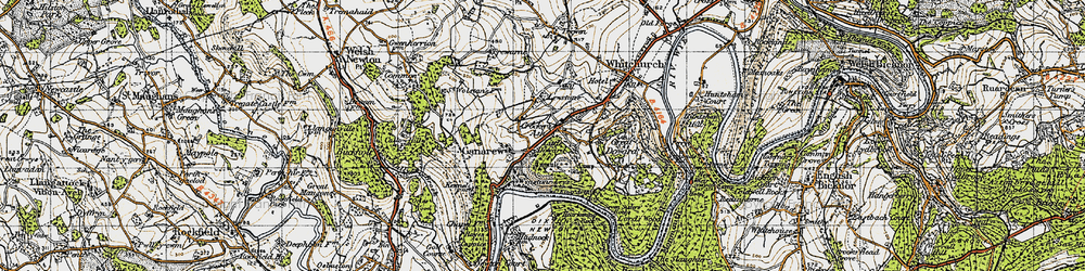 Old map of Wyastone Leys in 1947