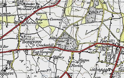Old map of Aldingbourne Ho in 1940