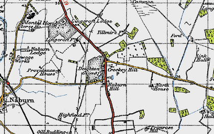 Old map of Wigman Hall in 1947