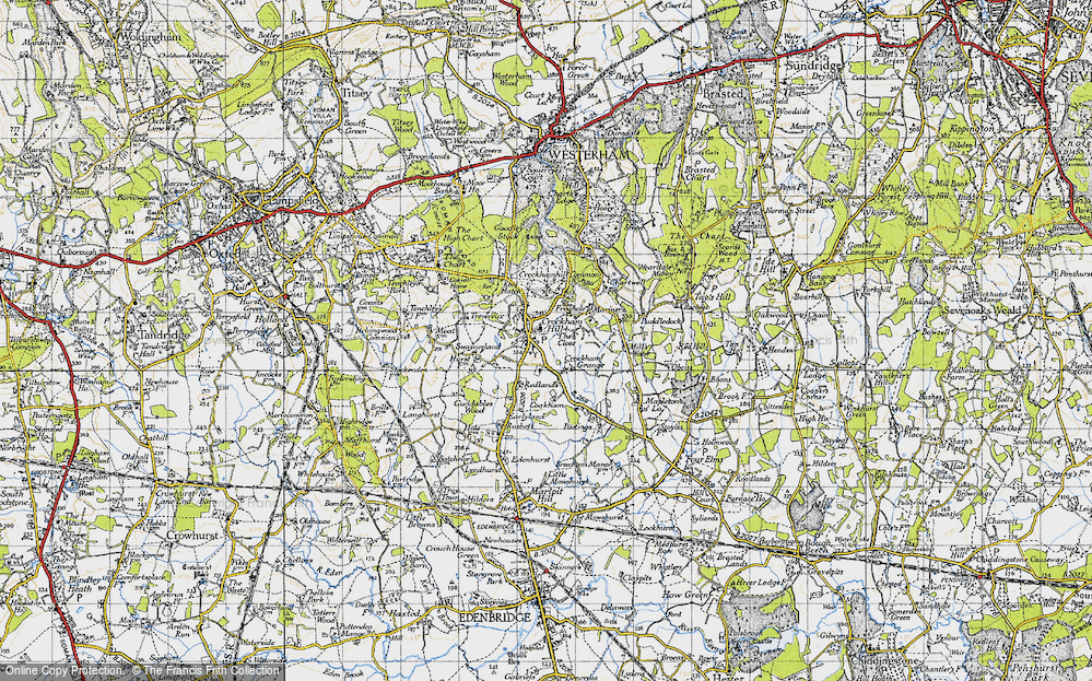 Old Map of Crockham Hill, 1946 in 1946
