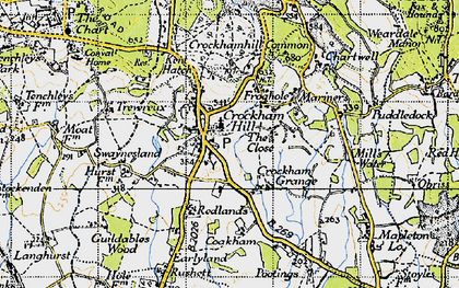 Old map of Crockham Hill in 1946