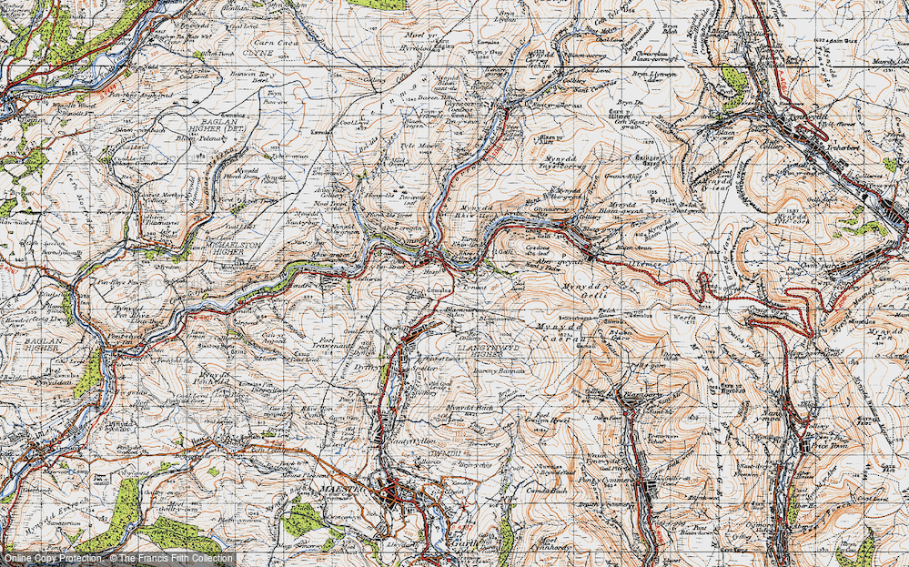 Old Map of Croeserw, 1947 in 1947