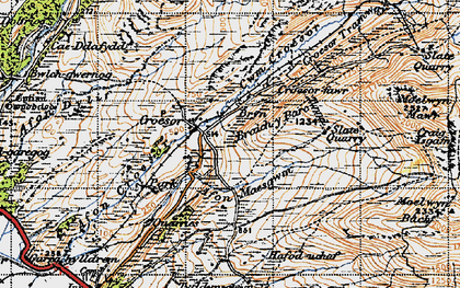 Old map of Afon Dylif in 1947
