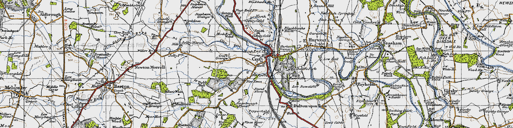 Old map of Croft-on-Tees in 1947