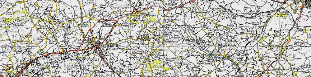 Old map of Tolgullow in 1946