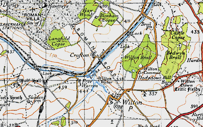 Old map of Wilton Brail in 1940